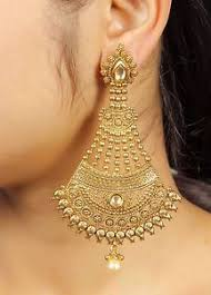 gold earrings for wedding 7094 gold plated south indian jhumka jhumki bridal earrings
