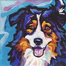 australian shepherd fabric australian shepherd art print modern dog art print tricolor