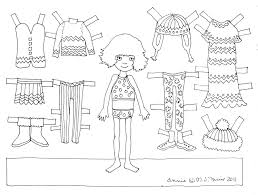 coloring cool paper doll coloring sheets paper doll