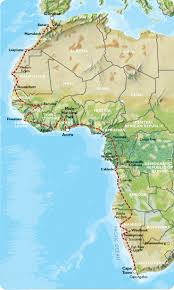 africa map senegal uk to cape town 22 weeks trans africa