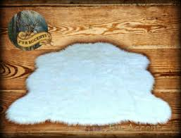 amazon com faux sheepskin rug white large 4 u0027 6