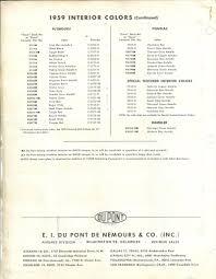 1959 pontiac color codes