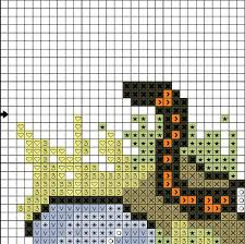 cross stitch pattern calvin and hobbes on log pdf counted chart