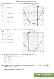 solving quadratic equations by graphing calculator worksheet