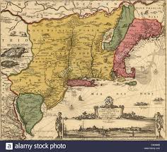 New Jersey New York Map by 17th Century Map Of Land That Became New England New Jersey And
