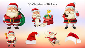 christmas stickers 3d merry christmas sticker app on the app store