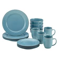 amazon com rachael ray cucina 16 piece stoneware dinnerware set