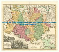 Provence Map Provence France Old Map Homann 1720 Digital Image Scan Download