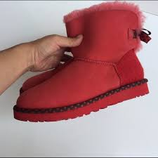 ugg mini bailey bow 78 sale 46 ugg boots ugg mini bailey bow 78 light boots sz 7
