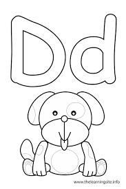 letter coloring dog consonant sound coloring pages