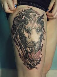 Scottish Tattoos Ideas Scotland Lion Sign Tattoo On Leg Category Scottish Tattoos