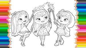 coloring pages little charmers coloring book videos for children