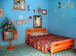 Blue Ceramic Floor Tile Classy Retro Kids Bedroom Design With Vintage Ceramic Floor Tile
