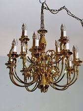 Antique Brass Chandelier Colonial Brass Chandelier Ebay