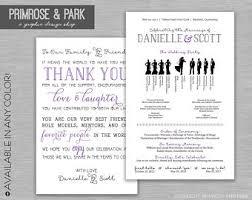 Funny Wedding Programs Funny Wedding Program Printed Silhouette Wedding Program