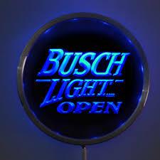 busch light neon sign online shop rs 0044 busch light open led neon round signs 25cm 10