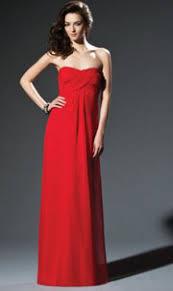 empire linie herzausschnitt bodenlang chiffon brautjungfernkleid p624 rote kleider rotes kleid bei niwado kaufen