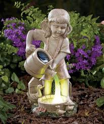 brilliant solar garden ornaments outdoor decor solar fiber optic