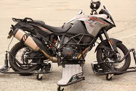Adventure Motorcycle Tires Skidbike System Testing Traction With A Ktm 1190 Adventure