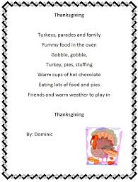 thanksgiving poems 2nd grade thanksgiving blessings
