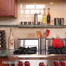 installing a kitchen backsplash installing kitchen backsplash and vent the family handyman