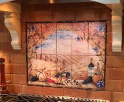 kitchen kitchen tile murals pacifica art studio tuscan backs