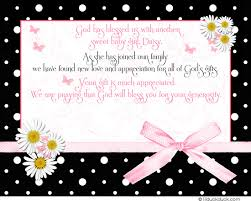 baby shower thank you cards polka dot thank you card sweet theme bow