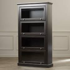 Barrister Bookcases With Glass Doors Furniture Impressive Wood Barrister Bookcase Design For Home