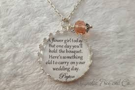 flower girl charms flower girl necklace bridesmaid necklace bridal pendant