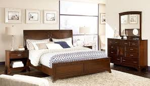 natural solid cherry wood bedroom set furniture made in america