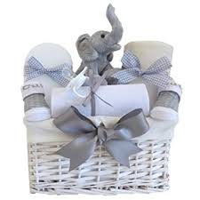 newborn gift baskets my teddy elephant unisex baby gift basket baby