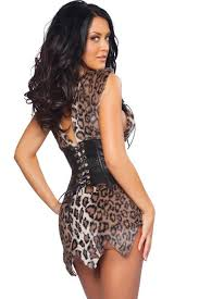 Cave Woman Halloween Costumes Wild Costume Jungle Cavewoman Costume 3wishes