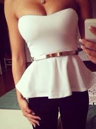 strapless blouse skirt blouse white top outerwear white and gold