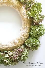 hydrangea wreath dried hydrangea wreath tutorial on sutton place