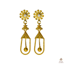 gold earrings tops fancy designer golden earrings parmar jewellersparmar jewellers