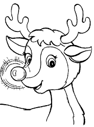raindeer coloring pages coloring picture hd kids fransus