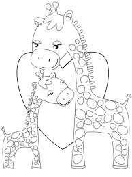 giraffe coloring pages printable family finger puppets coloring page dresslikeaboss co