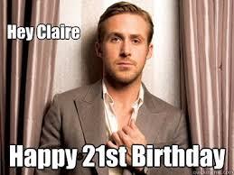 Happy Birthday Ryan Gosling Meme - ryan gosling happy birthday meme generator funnymemes