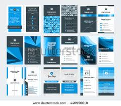 set modern creative business card templates stock vector 482964142