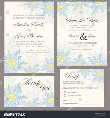 Wedding Invitations And Thank You Cards Wedding Invitation Set Thank You Card Stock Vector 132169637