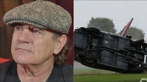 ac dc singer brian johnson suffered a car crash in his racing car