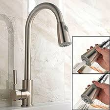 Stainless Kitchen Faucet Pull Out Ufaucet Brushed Nickel Stainless Steel Single Handle Pull Out