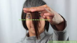 trimming hair angle cut 5 ways to trim your own split ends wikihow