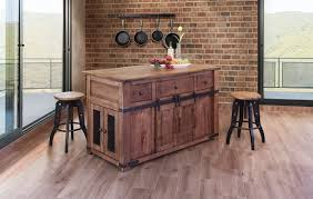 solid wood industrial kitchen island with casters and sliding doors
