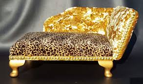 Leopard Print Chaise Leopard Print And Gold Crushed Velvet Chaise Longue Pet Bed