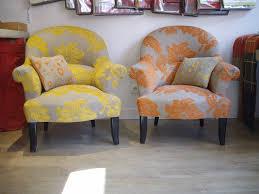 fauteuil design tissu cuisine fauteuils crapauds tendance chic tapissier crã ateur