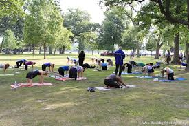 my nw indiana and more yoga in the park with sandra tomera