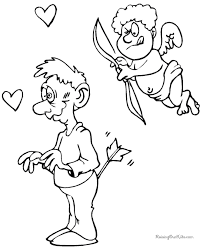 valentine cupid coloring sheet 025