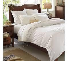 Mahogany Sleigh Bed Valencia Ii Sleigh Bed U0026 Dresser Set Pottery Barn