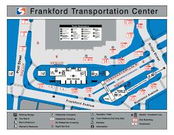 Septa Train Map Septa Frankford Transportation Center